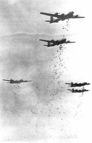 B-29s dropping bombs