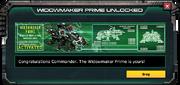 WidowmakerPrime-UnlockMessage