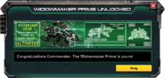 WidowmakerPrime-UnlockMessage