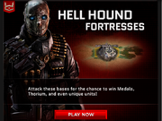 Hell hound fortress ad on email