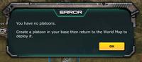 Error - You have no platoon.