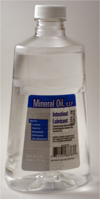 Mineral oil bottle-front