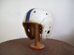 Rawlingsleatherfootballhelmet