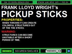 Frank Llyod Wright's Pick Up Sticks