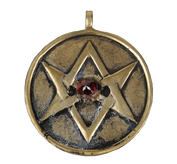 Ruby Studded Universal Hexagram Necklace