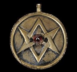 Ruby Studded Universal Hexagram Necklace