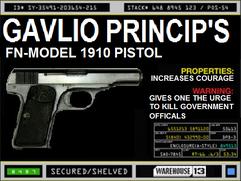 Gavlio Princip's Pistol