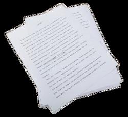 Anthony Bishop's Manuscript