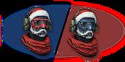 Aggressive Christmas Helmet Rifleman Render