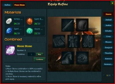 Equipment refine page