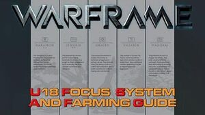 Focus System and Farming Guide -Post U18.1