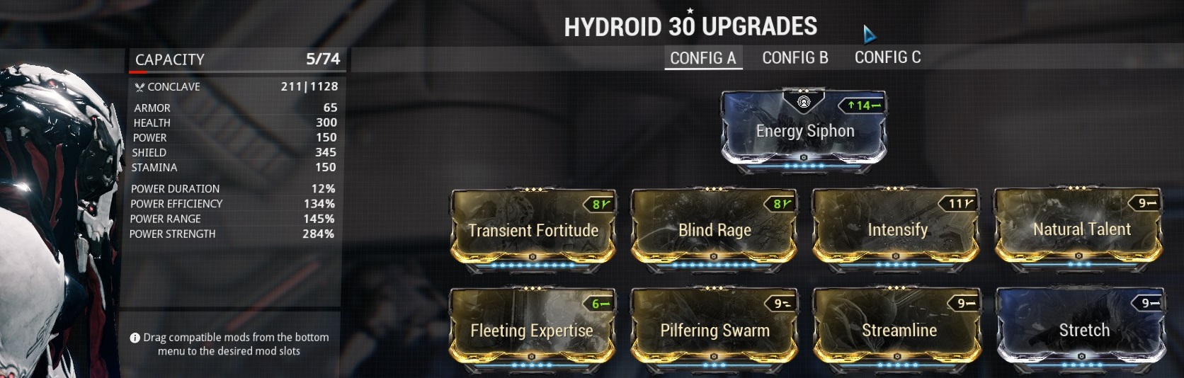 how to build a effigy warframe