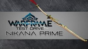 Warframe Test Drive Nikana Prime 1 Forma