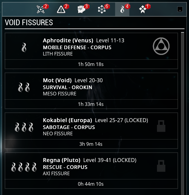 Void Fissure selection U19