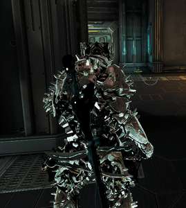Warframe Rhino Iron Skin Back