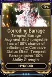 Corroding Barrage