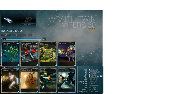 File:Warframe Wiki Wraith Twin Vipers 4 forma build and damage stats.png
