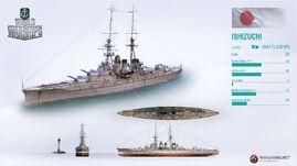 Japanese Battleship Ishizuchi