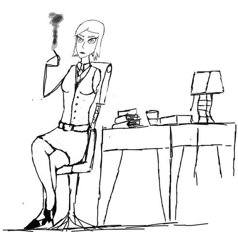 File:Jan smoking desk heels and self help books.jpeg
