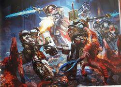 Grey Knights vs Khorne Bloodthirsters
