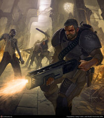 Cadian Shock Troopers vs. Zombies