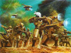 Tau Fire Warriors Battle