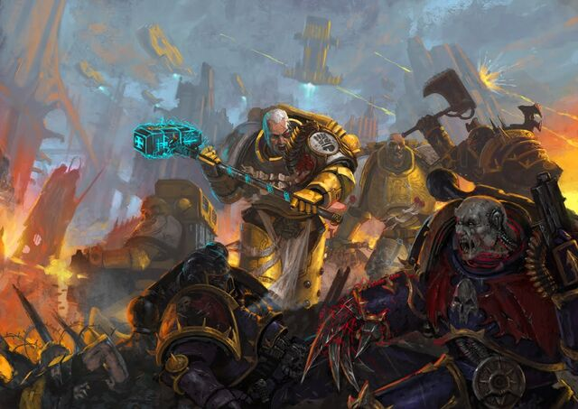 File:Imperial Fists Fighting against Chaos.jpg