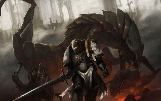 File:Warhammer 40k space marine artwork tyranids black templar 1125x812 wallpaper Wallpaper 1920x1200 www.wallmay.net.jpg