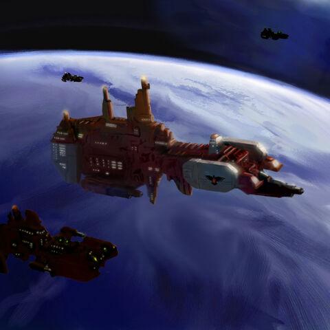 File:Warhammer Strike Cruiser by mikkow.jpg