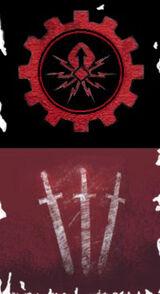 Atrax Icon Frayed Banner