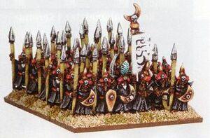 Arabian Spearmen Araby Warmaster Miniatures