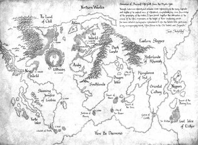 High Elf Domains World Map 6th Edition illustration