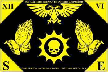 Servants of the emperor banner