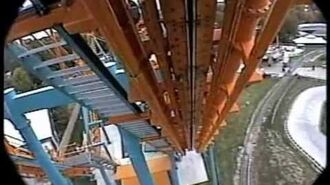 Two Face Roller Coaster Front Seat POV Inverted Boomerang Six Flags America 1999