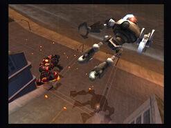 Robo sent flying