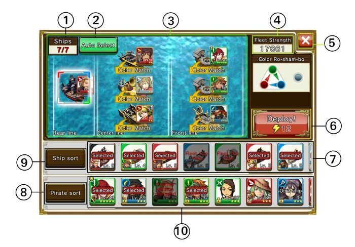Pre-battle interface