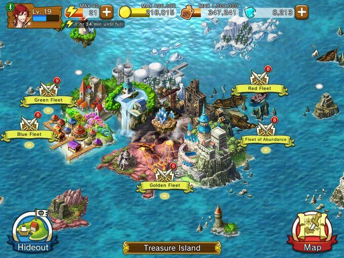 Treasure Island all fleet