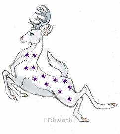 Deer tattoo by Edheloth (edited)