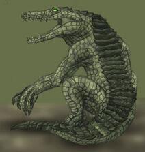 Crocodile guy coloured by ramz0