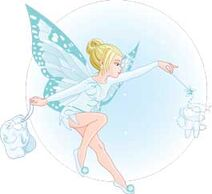 2-Blue Tinkerbell Tooth Fairy