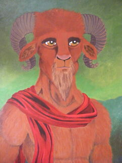 Portrait of a satyr by olanatungee-d4tw025-1-