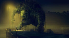 960x540 1354 Swamp monster 2d horror swamp monster fantasy painting picture image digital art-1-