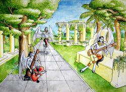 Gandharvas Heavenly Musicians by Kitsune aka Cettie-1-