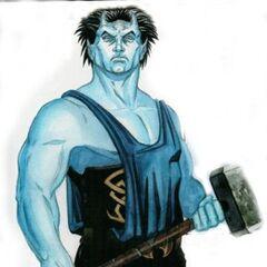 This Half-Fay, Half-Ogre runs both a Magic Shop and an Armory.