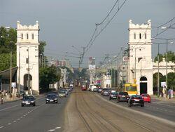 Wjazd na Most Poniatowskiego od strony Alei Jerozolimskich.JPG