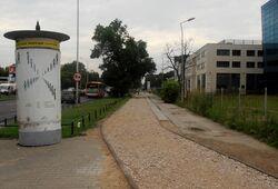 Czerniakowska (ścieżka rowerowa, budowa).JPG