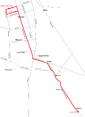 Trasa linii 104 w latach 1973-1976