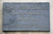 Tablica Wojciech Rubinowicz ul. Hoża 74