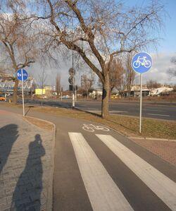 Aleja Solidarności (ścieżka rowerowa).JPG
