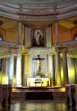 Ołtarz główny kościół św. Trójcy Plac Małachowskiego.JPG
